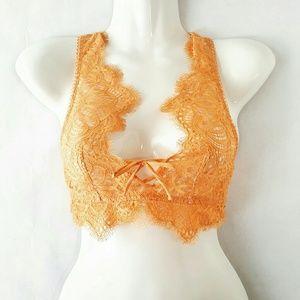 Peach Lace Bralette NWT